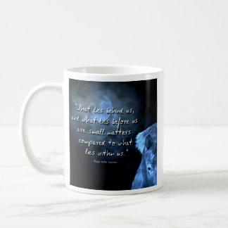 what lies behind us  ... classic white coffee mug