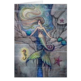 What Lies Beneath Lovely Mermaid Card