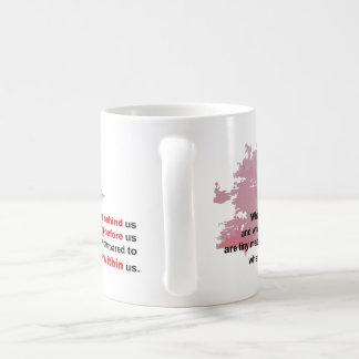 what lies within classic white coffee mug