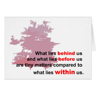 what lies within greeting card