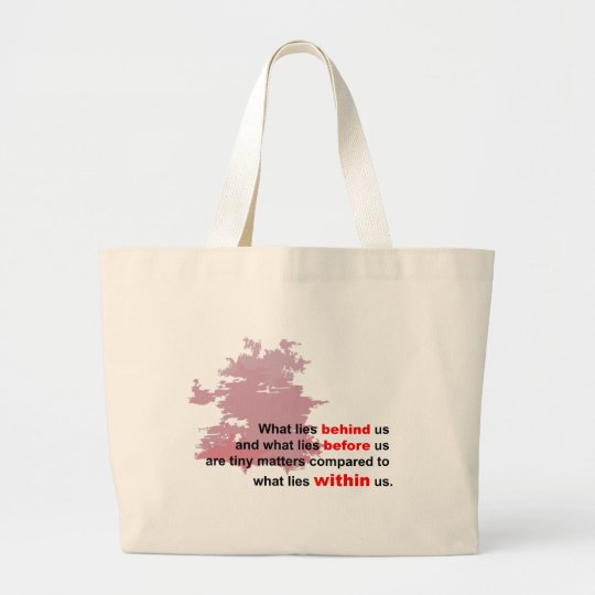 what lies within large tote bag