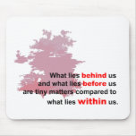 what lies within mouse pad
