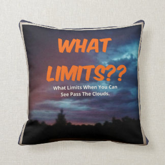 What Limits- UM Throw Pillow