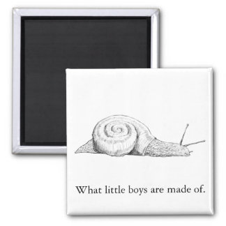 What Little Boys Are Made Of 2 Inch Square Magnet