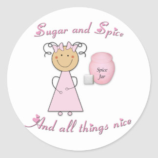 What little girls are made of -- Sugar and Spice Classic Round Sticker