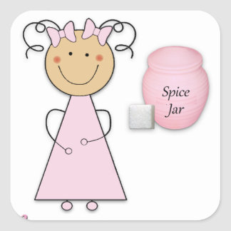 What little girls are made of -- Sugar and Spice Square Sticker