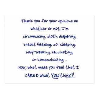 What made you think I cared? Post Card