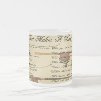 WHAT MAKES A DAD-MUG FROSTED GLASS COFFEE MUG