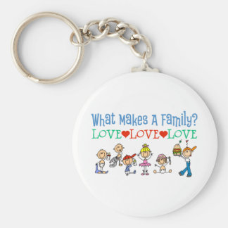 What Makes A Family Gay Gift Basic Round Button Keychain