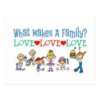 What Makes A Family Gay Gift Postcard