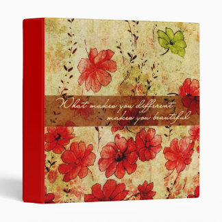 What makes you different makes you beautiful binder