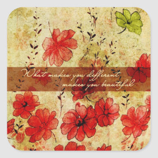What makes you different makes you beautiful square sticker