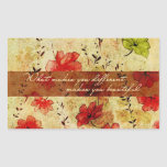 What makes you different makes you beautiful rectangle sticker