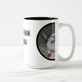 What Makes You Think I've Had More Than Coffee? Two-Tone Coffee Mug