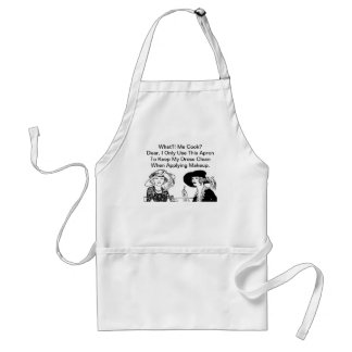 WHAT ME COOK? Funny Diva Ladies Chef Vintage Adult Apron