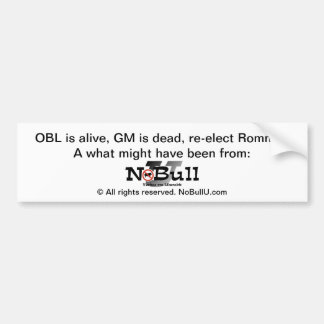 What Might Have Been Car Bumper Sticker
