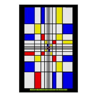 What Mondrian Failed to Realize Poster