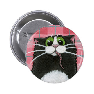 What Mouse? Whimsical Cat Button