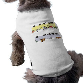 What my dog loves & hates, puppy likes & dislikes dog t-shirt