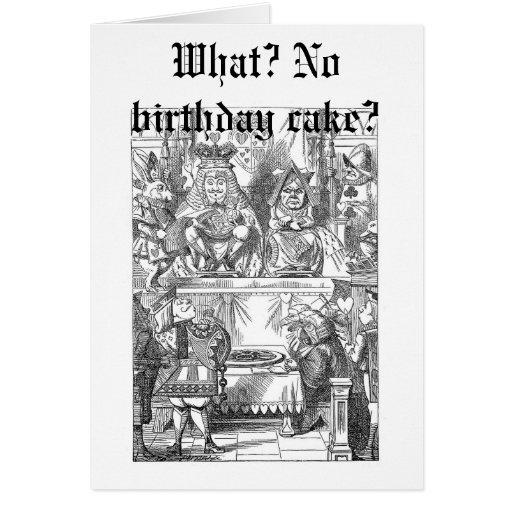 What? No birthday cake? Greeting Card