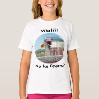 What No Ice Cream - Ostrich Farm shirt