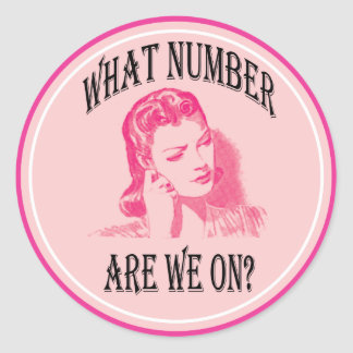 what number are we on? classic round sticker