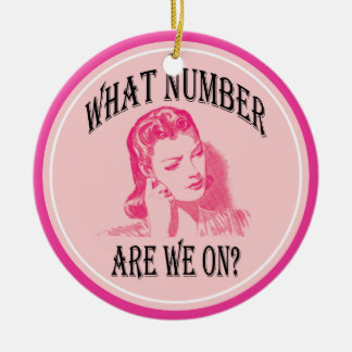 what number are we on? funny bunco ceramic ornament