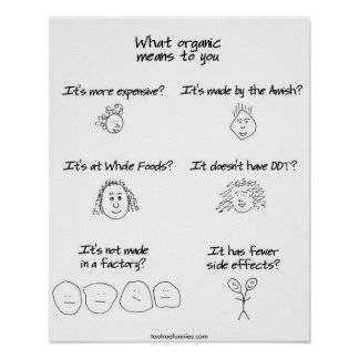 What organic means to you poster