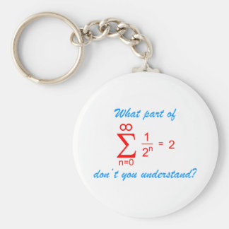 What part OF geometric series don't you and-arose Keychain