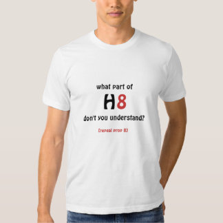 what part of h8/repeal prop 8 t-shirt