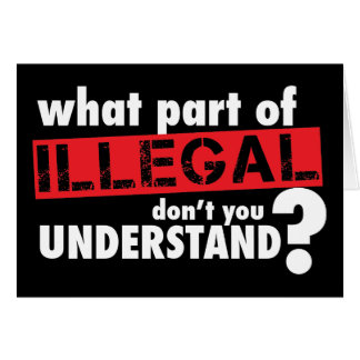 What Part of Illegal Don't You Understand Card