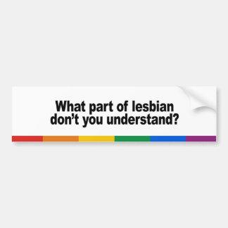 What part of lesbian bumper sticker