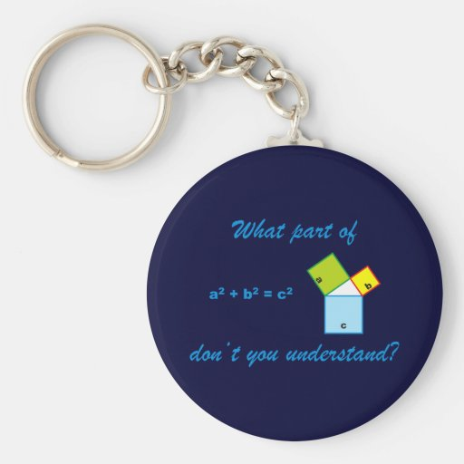 What part OF Pythagoras don't you and-arose? Key Chain