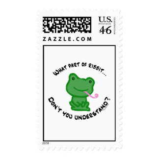 What part of Ribbit... Stamps