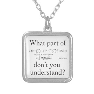 What Part of... Silver Plated Necklace