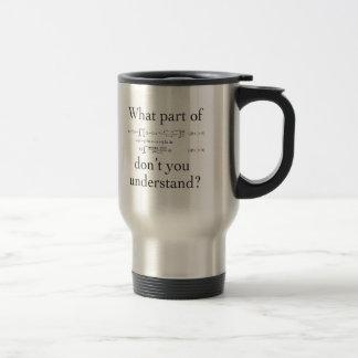 What Part of...? Travel Mug