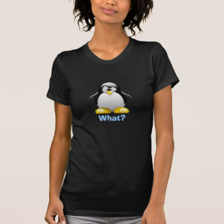 What? Penguin (Womens Blue Layered) T-Shirt