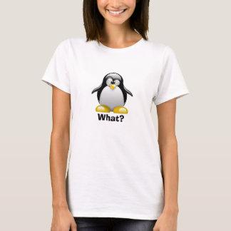 What? Penguin (Womens White) T-Shirt