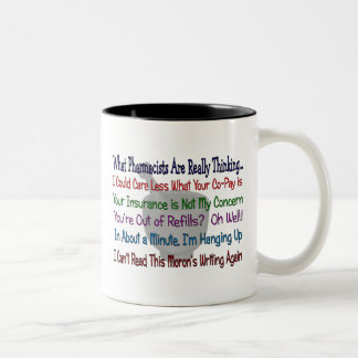 What Pharmacists are REALLY THINKING Two-Tone Coffee Mug