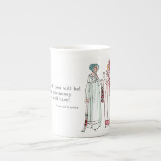 What pin-money you will have! - Pride & Prejudice Tea Cup