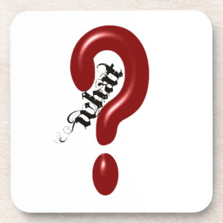 What Question Mark Beverage Coasters