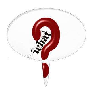 What Question Mark Cake Topper