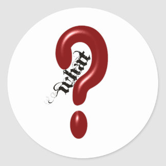 What Question Mark Round Stickers
