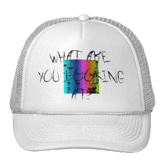 What r u looking at - cap trucker hat