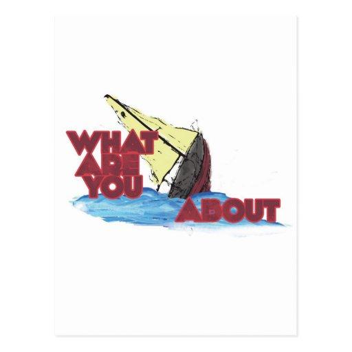 What r u sinking (thinking) postcard