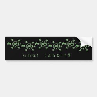 What Rabbit? Turtle Bumper Sticker
