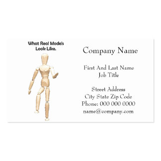 What Real Models Look Like Artist Mannequin Double-Sided Standard Business Cards (Pack Of 100)