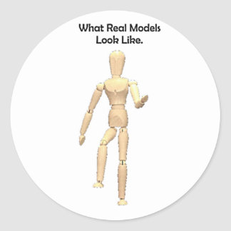 What Real Models Look Like Artist Mannequin Classic Round Sticker
