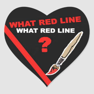 What red line? ... What red line ? Heart Sticker