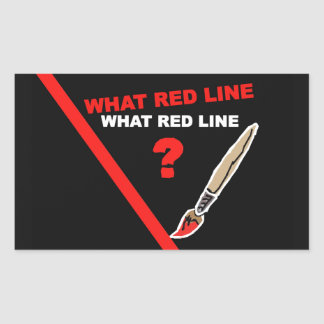 What red line? ... What red line ? Rectangular Sticker